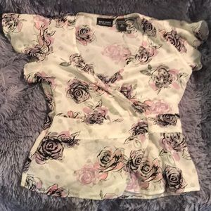 New York and Company Wrap Shirt Size M
